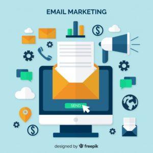E Mail Marketing Flat Background 23 2147999602