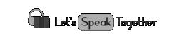 lets speak together logo grey